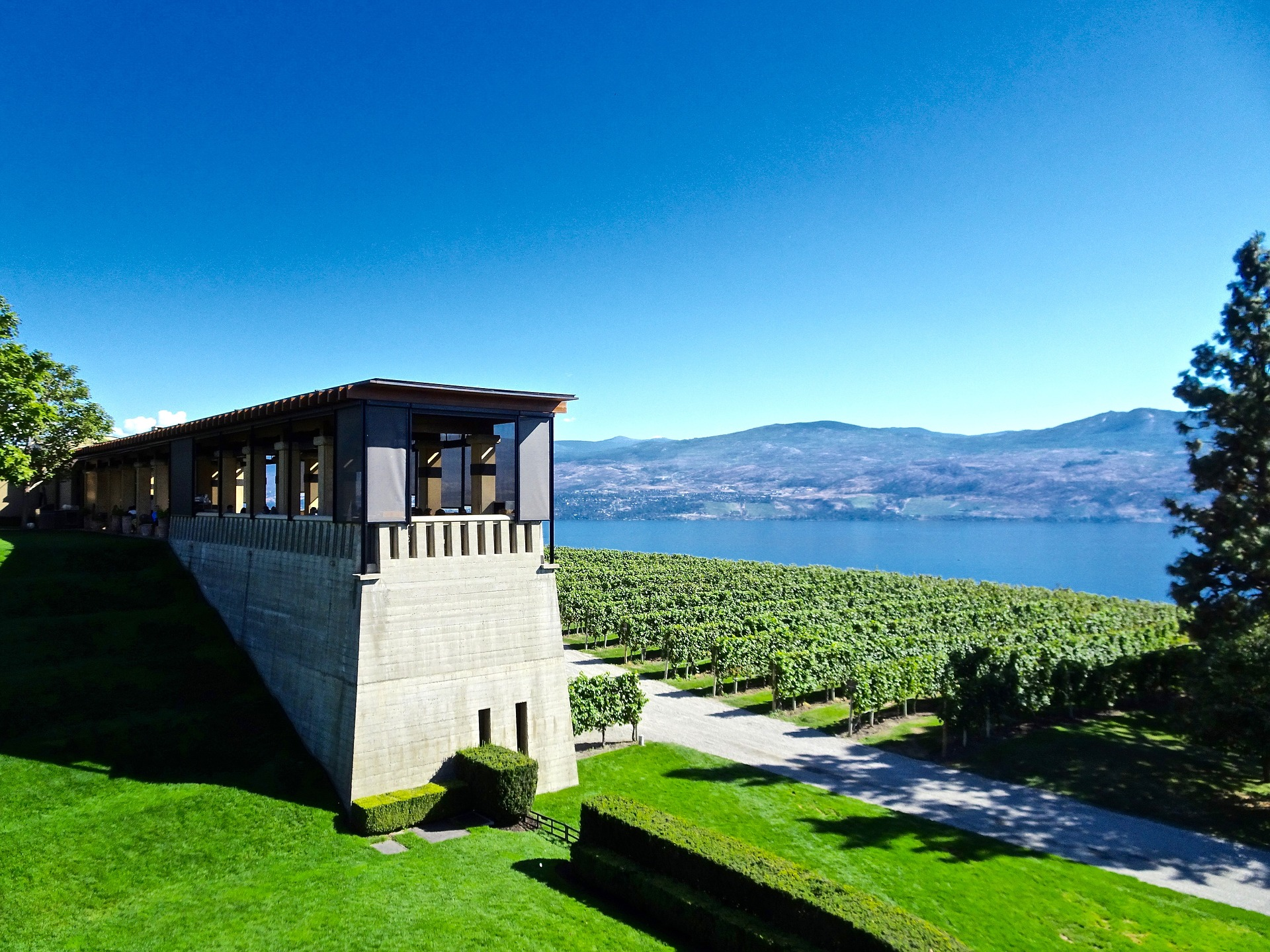 summer scene mission hill winery kelowna